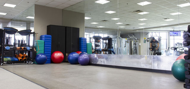 Stretching Area of Fitness Center