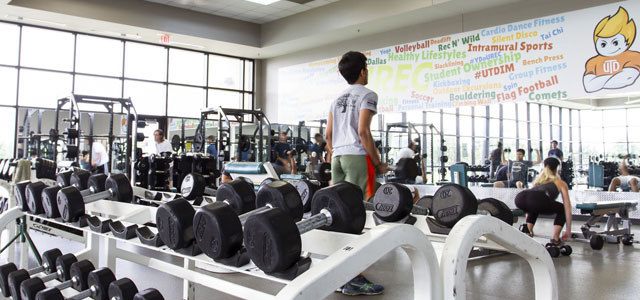 Weight Training Area of Fitness Center