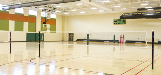 Rec Center West Basektball and Badminton Courts