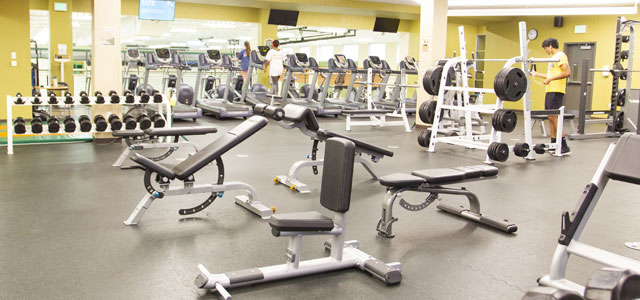 Rec Center West Weight Training Area